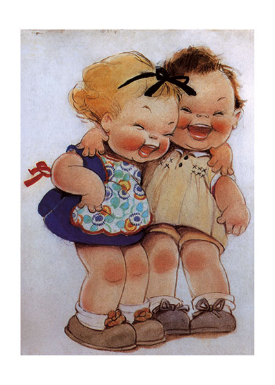 Childhood Friendship Fun Girlhood Illustrator: Mabel Lucie Attwell Imprint: Laughing Elephant Joy Smiles & Laughter'