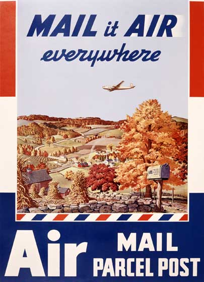 Air Mail Imprint: Laughing Elephant Planes Travel'
