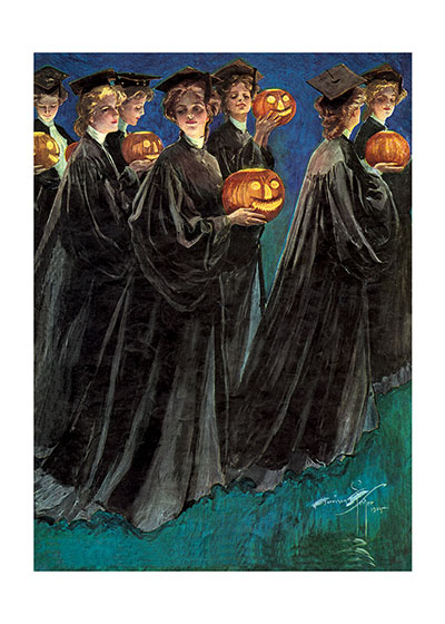 Halloween Imprint: Laughing Elephant Jack-o-Lanterns School Women'