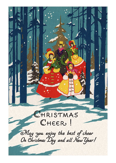 Christmas Illustrator: Unknown Imprint: Laughing Elephant Mid-Century Singing Trees Winter'