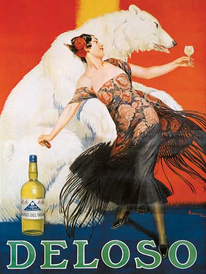 Advertising Art Animals Bears Illustrator: Unknown Imprint: ArteHouse Spain Wine & Spirits Women'