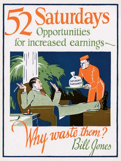 1920's 1930's Advertising Art Art Deco Encouragement Illustrator: Unknown Imprint: ArteHouse Inspiration Men United KIngdom Work'