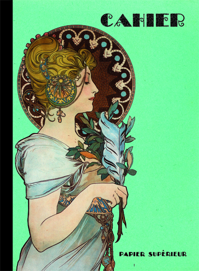 Art Nouveau Composition Fashion &amp; Beauty France Imprint: Laughing Elephant Letters Lined Pages Notebooks &amp; Journals Writing and Mail'