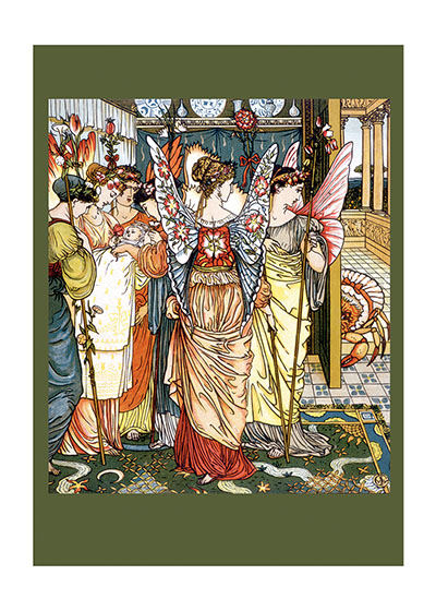 Babies Children's Classics Fairies Fairy Tales Illustrator: Walter Crane New Child Nursery Rhymes Winged Creatures'