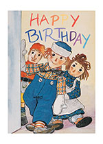 Birthday Dolls Friendship Illustrator: Johnny Gruelle Imprint: Laughing Elephant'