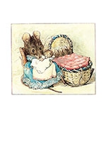 Animals Babies Dressed Animals Family Illustrator: Beatrix Potter Mice Mother & Child New Child'