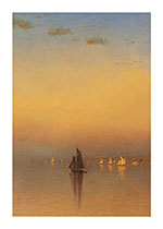 Boats Illustrator: Sanford Robinson Gifford Imprint: Laughing Elephant Nature Ocean Sky'