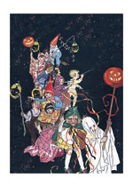 Disguise & Costume Halloween Illustrator: Louise Clasper Rumely Imprint: Laughing Elephant Lanterns'