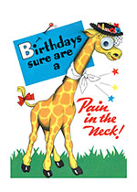 Animals Birthday Dressed Animals Giraffes Humor Illustrator: Unknown Imprint: Laughing Elephant Kitsch'
