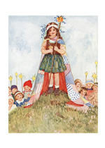 Birthday Childhood Flowers Girlhood Illustrator: Millicent Sowerby Imprint: Laughing Elephant Parties'
