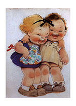 Birthday Friendship Fun Illustrator: Mabel Lucie Attwell Imprint: Laughing Elephant Joy Smiles &amp; Laughter'