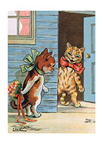 Animals Cats Dressed Animals Flowers Illustrator: Louis Wain Imprint: Laughing Elephant Love &amp; Romance'