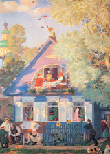 Family Home Illustrator: Boris Kustodiev Imprint: Laughing Elephant Trees'