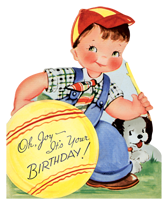 Animals Birthday Boyhood Childhood Dogs Illustrator: Unknown Imprint: Laughing Elephant Playing'