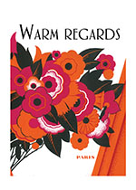 1920's Art Deco Flowers Friendship Illustrator: Unknown Imprint: Laughing Elephant'