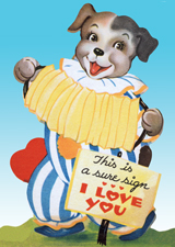Animals Birthday Celebration Dogs Dressed Animals Hearts Holidays Illustrator: Unknown Imprint: Laughing Elephant Music Pets Smiles & Laughter Valentine's Day'