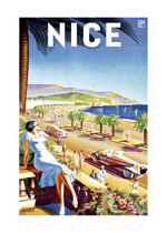 Cars France Imprint: Laughing Elephant Ocean Posters Transportation Travel Women'