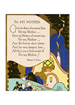 1920's Art Deco Home Imprint: Laughing Elephant Mother Mother's Day Spring'
