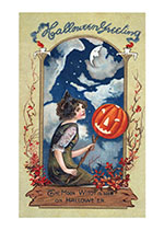 Candles Halloween Imprint: Laughing Elephant Jack-o-Lanterns Moon Night'