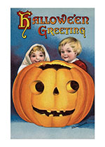 Childhood Halloween Holidays Illustrator: Ellen M. Clapsaddle Imprint: Laughing Elephant Jack-o-Lanterns Smiles & Laughter'