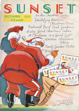 1930's Christmas Imprint: Laughing Elephant Santa Claus Writing and Mail'