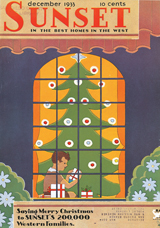 1930's Christmas Home Imprint: Laughing Elephant Windows'