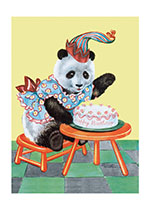 Animals Birthday Cake Dressed Animals Illustrator: Eleanora Madden Imprint: Laughing Elephant Panda Bears Parties'