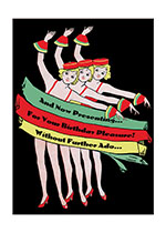 1920's 1930's Art Deco Birthday Dancing Disguise & Costume Illustrator: M.B. Roberts Imprint: Laughing Elephant'