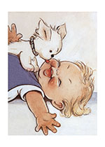 Animals Birthday Dogs Hugs & Kisses Illustrator: Mabel Lucie Attwell Joy Puppies Smiles & Laughter'