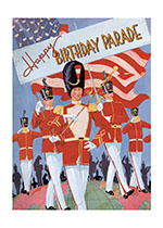 Birthday Fourth of July Holidays Illustrator: F.S. Cooke Imprint: Laughing Elephant Parade Patriotic Soldiers'