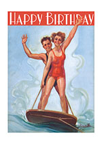 Birthday Illustrator: Clay Weaver Imprint: Laughing Elephant Joy Playing Smiles & Laughter Summer Surfing Vacations Women Athletes'