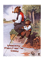 Animals Bears Boyhood Childhood Family Father's Day Fathers Fishing Illustrator: Harry Rountree Imprint: Laughing Elephant'