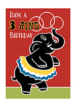 Animals Birthday Circus Dressed Animals Elephants Illustrator: Unknown Imprint: Laughing Elephant Playing'
