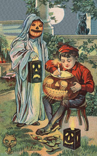Childhood Costume Creativity Disguise & Costume Halloween Holidays Illustrator: Unknown Imprint: Laughing Elephant Jack-o-Lanterns'