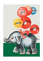 Animals Balloons Birthday Elephants Imprint: Laughing Elephant'