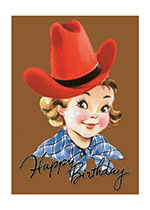 Americana Birthday Childhood Cowboys & Cowgirls Girlhood Imprint: Laughing Elephant Western'