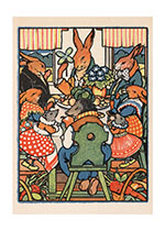 Animals Celebration Friendship Illustrator: Rudolf Mates Rabbits'