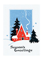 Christmas Home Illustrator: Unknown Mid-Century Snow Winter'