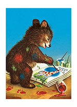 *spring2013 Animals Art Education Baby Animals Bears Creativity Painting & Drawing'