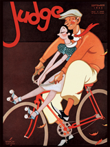 1930's Advertising Art Bicycle Friendship Illustrator: Vernon Grant Imprint: ArteHouse Love & Romance Magazine Covers Transportation'