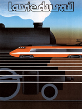 Advertising Art France Illustrator: Unknown Imprint: ArteHouse Trains Transportation'