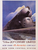 Advertising Art Chicago Illustrator: Unknown Imprint: ArteHouse New York Trains Transportation'