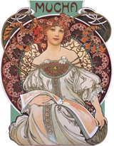 Art Nouveau Books & Readers Boxed Cards Card Packets Fashion & Beauty France Illustrator: Alphonse Mucha Women'