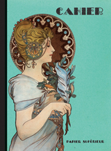 Art Nouveau Composition Fashion & Beauty France Imprint: Laughing Elephant Letters Lined Pages Notebooks & Journals Writing and Mail'