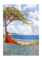 Children's Classics Clouds Friendship Illustrator: Howard Pyle Nature Peace Sky Trees'