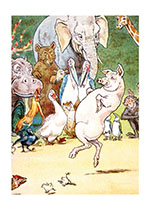 Animals Birds Children's Classics Dancing Elephants Humor Illustrator: L. Leslie Brooke Pigs'
