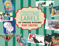 Christmas Imprint: Laughing Elephant Labels & Decals Luggage Label'