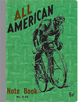 Americana Bicycle Composition Imprint: Laughing Elephant Letters Lined Pages Notebooks & Journals Sports Transportation'