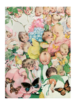 Babies Flowers Gardening Illustrator: Fanny Y. Cory Nature New Child'