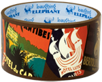 Imprint: Laughing Elephant Labels & Decals Luggage Label Tape Transportation Travel'